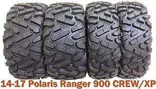 Set 4 ATV UTV Tires 26x9-12 & 26x11-12 for 14-17 Polaris Ranger 900 CREW/XP