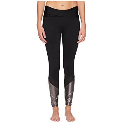 Ivanka Trump Ruched Active Leggings (Black/Bronze) Women