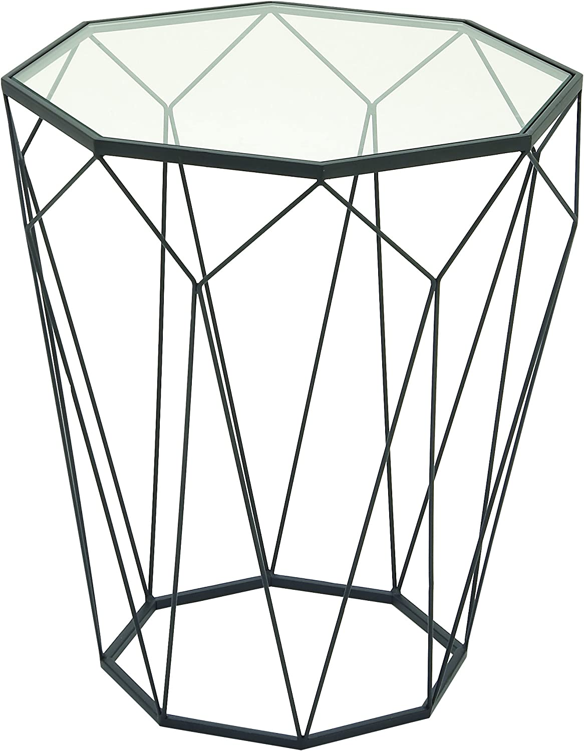 Deco 79 65559 Metal Glass Accent Table, 20  x 22
