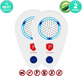 Ultrasonic Pest Repeller Plug in|Bug Repellent for Flea, Mosquito, Mice Repellent etc.|Pest Reject Pest Control Ultrasonic Repellent for Indoor & Outdoor| Safe, Eco-Friendly Electric Repellent (2pack)