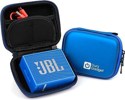 DURAGADGET Custodia Rigida Blu per JBL Go - con Elastici - Ideale per I Viaggi! - Alta qualità
