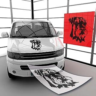 Adesivo Auto V003 Sticker International Giant Schnauzer Bianco//Trasparente Paraurti Adesivi Regalo Esterno Stampa Cane Firmare Finestrino 160x100mm