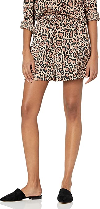 The Drop Eva Short pour Femme, Soyeux, Extensible, à Enfiler, Coupe Ample