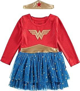 Wonder Woman Baby Girls' Toddler Costume Bodysuit Dress with Tiara & Cape