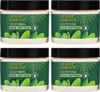 Desert Essence Tea Tree Oil Skin Ointment - 1 Fl Ounce - Pack of 4 - Jojoba & Lavender Essential Oils - Vitamin E - Sweet ...