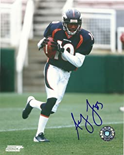 Asley Lalie, Denver Broncos, Hawaii Warriors, Signed, Autographed, 8x10 Photo, Coa, Rare Hard Photo to Find