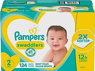 Pampers Swaddlers Pañales Etapa 2 con 124 Piezas