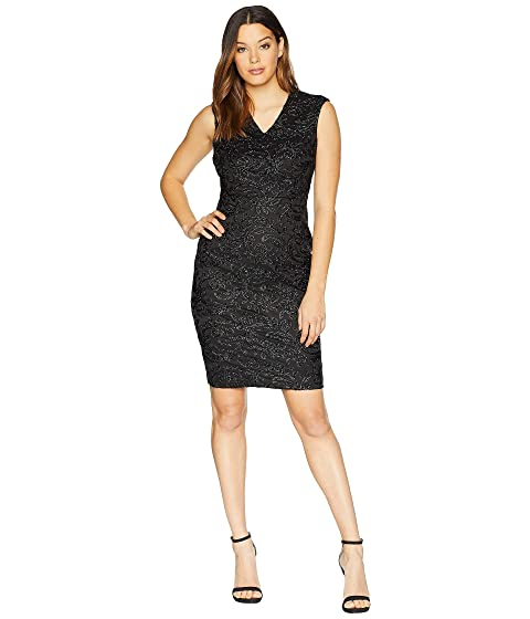 50413b967ea24 Calvin Klein Sparkle Novelty V-Neck Sheath Dress at Zappos.com