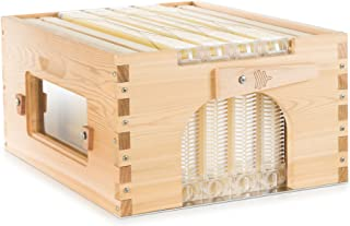 Official Flow Hybrid Cedar 4 Frame - Beehive Super Featuring Patented Flow tech, fits a 10 Frame Langstroth Style hive