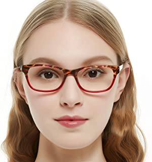 3580f92c0fb OCCI CHIARI Rectangle Stylish Non-prescription Optical Women Eyewear Frame  With Clear Lens