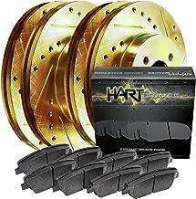 [FULL KIT] GOLD HART DRILLED SLOTTED BRAKE ROTORS AND CERAMIC PAD GHCC.62092.02