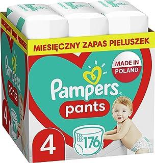 Pampers Pants Pieluchomajtki, Rozmiar 4, 176 Sztuk, Łatwa I Szybka Zmiana W Ciągu Dnia I Ochrona Nocą, 9kg-15kg