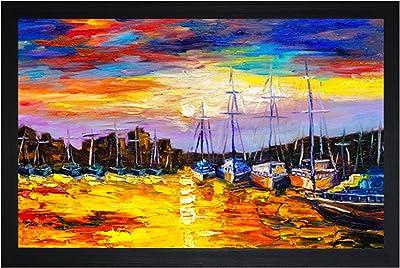 SAF Textured Print with UV Framed Reprint Painting (SANFO771, 30 cm x 3 cm x 45 cm) SANFO771
