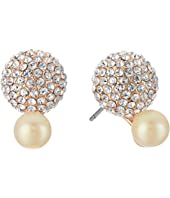 Kate Spade New York - Flying Colors Pave Double Bauble Stud Earrings
