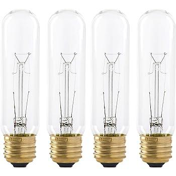 Satco S3250 120v Medium Base 25 Watt T10 Light Bulb Clear Amazon Com