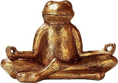 Pajoma 48410A Yoga Frog Decorative Figurine Relax, Plastic, Gold, 29.5x 14.5x 20.5cm