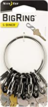 """Nite Ize BigRing Steel, 2"""" Stainless-Steel keychain Ring With 8 Stainless-Steel Key-Holding S-Biners"""