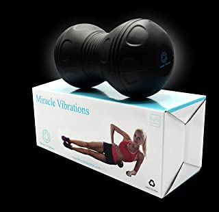 Miracle Vibration Vibrating Back Roller Massage Ball with Double Trigger Point Balls and Powerful Lithium-Ion Batteries for Deep Tissue Release