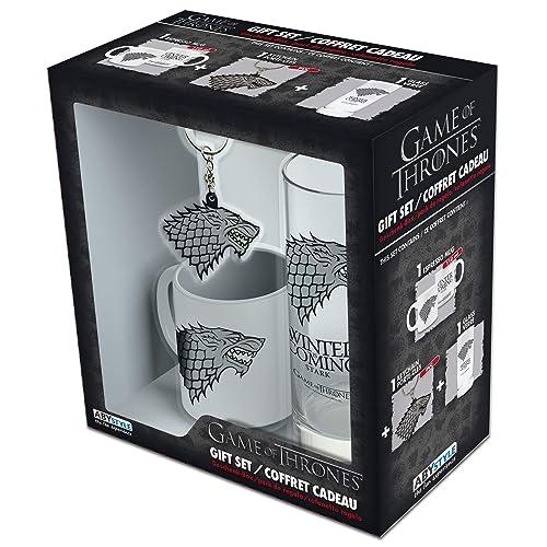 dee1a590 GAME OF THRONES - Gift Pack: Glass 29cl + KeyringPVC + Mini Mug