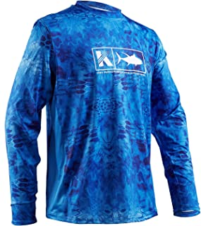 Performance Fishing Shirt Mens Vented Long Sleeve UPF 50 UV Sun Protection Quick Dry Cooling Mesh