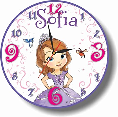 Art time production Sofia The First 11.8 Handmade Wall Clock - Get Unique décor