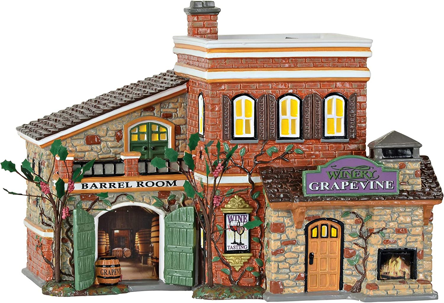 Department 56 Snow Grapevine Winery Columbus Mall Lit Building Now free shipping Multic Village