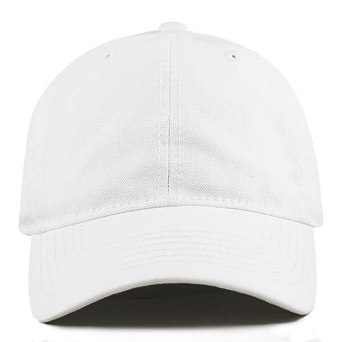 THE HAT DEPOT 100% Cotton Canvas 6-Panel Low-Profile Adjustable Dad Baseball 07e25959d56