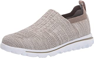Propet Women's TravelActiv Stretch Boat Shoe, Taupe