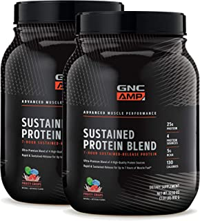 GNC AMP Sustained Protein Blend - Fruity Crisps - Twin Pack