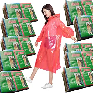 Leberna Rain Ponchos for Adult & Teens | Disposable Poncho for Women & Men | One Size Fit All with Attached Hood | Emergen...