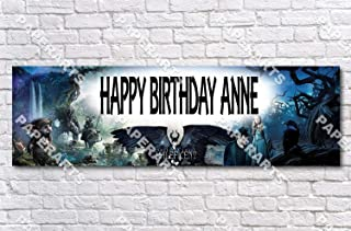 Maleficent Movie - Personalized Birthday Name Poster with Custom Name On it, Border Mat and Frame Options