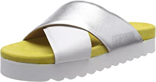 Amazon.es: Plateado Zuecos y mules Zapatos para mujer