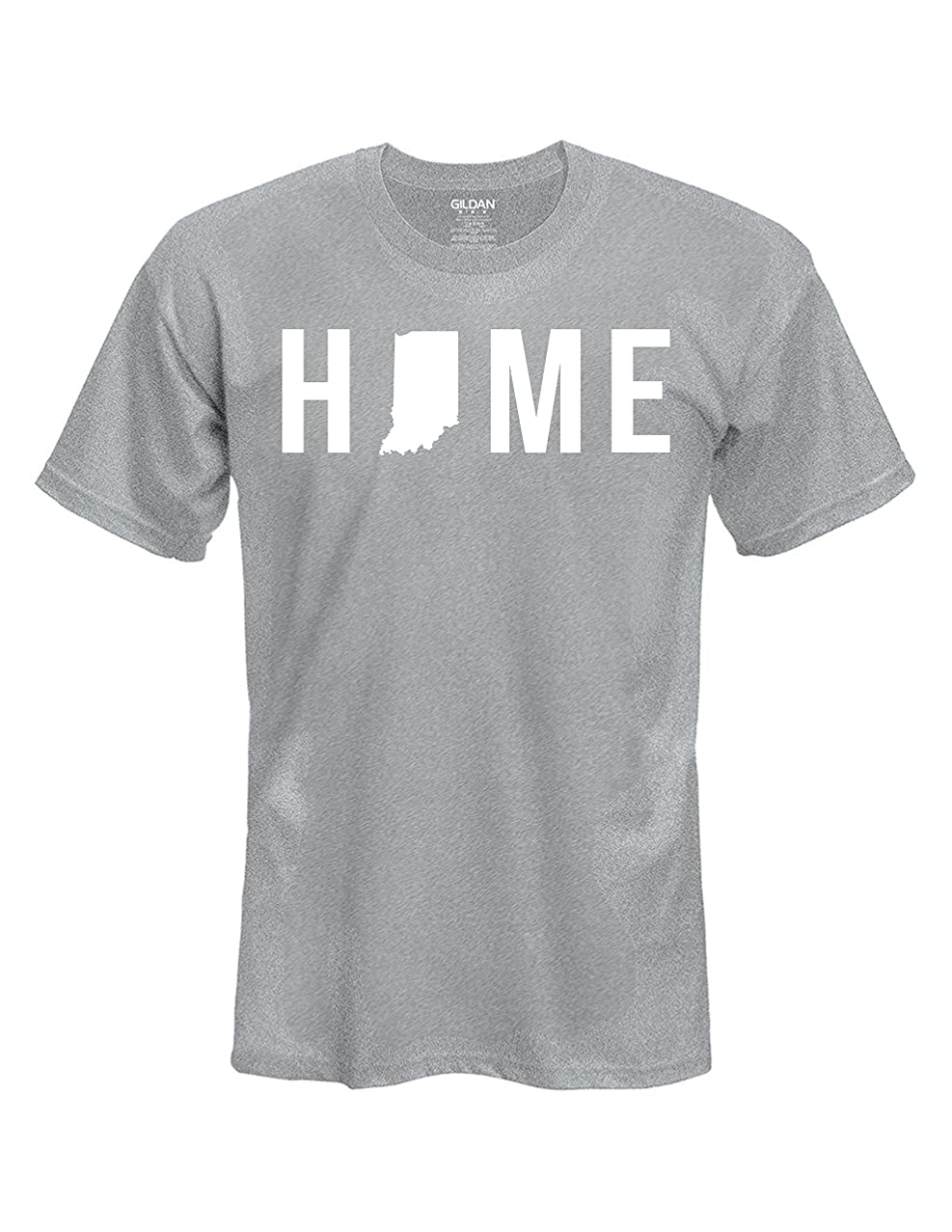 Mens/Womens Indiana HOME State Gray T-Shirt sizes: S-XXL