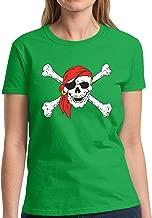 Pekatees Jolly Roger Skull Shirt for Women Skull Shirts for Women Pirate Flag Tshirt Pirate Shirt Pirate Skull Gifts