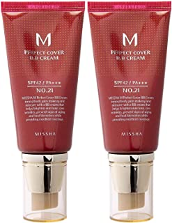 Missha M Perfect Cover Bb Cream SPF 42 Pa Plus # 21, Light Beige 1+1