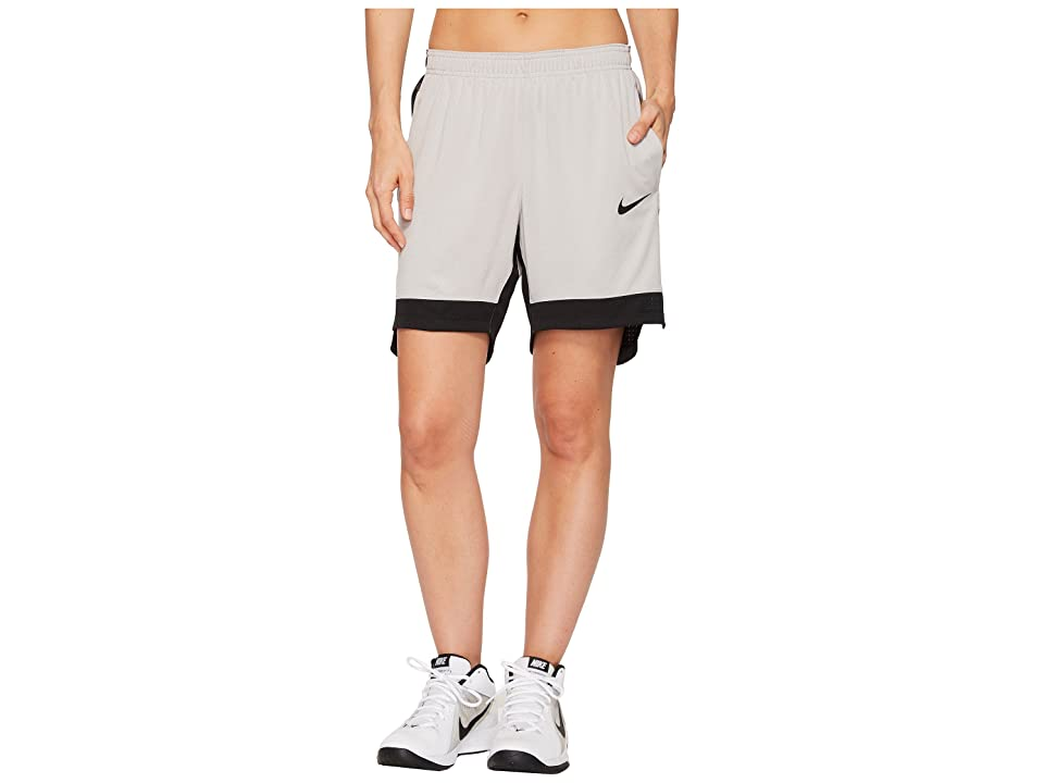 Nike Dry Elite Basketball Short (Atmosphere Grey/Atmosphere Grey/Black) Women