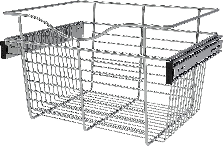 Rev-A-Shelf - CB-181411CR-1 Free shipping Chrome Basket Closet Pull-Out Mail order cheap