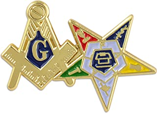 Our Masonic Family: Joint Eastern Star and Masonic Lapel Pin