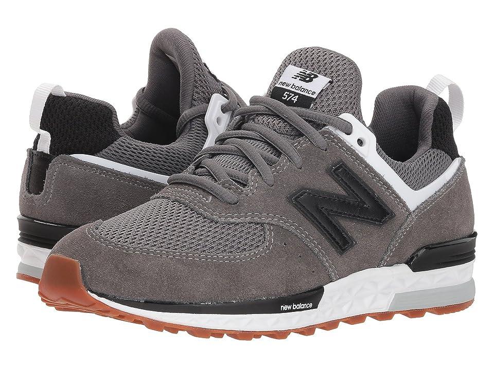 New Balance Kids GS574v2 (Big Kid) (Castlerock/Black) Boys Shoes