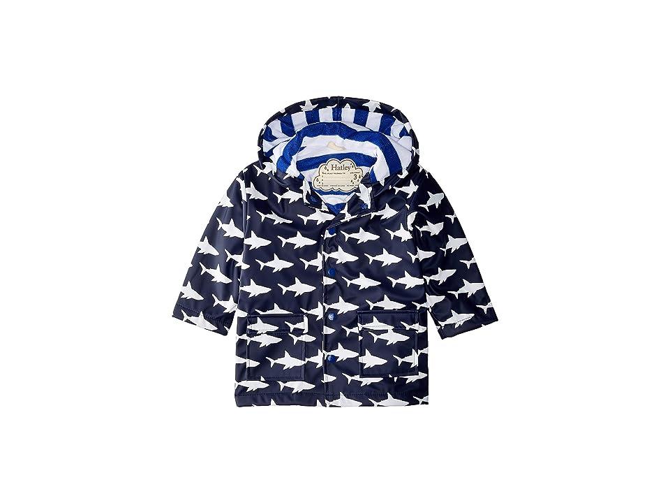 Hatley Kids - Hatley Kids Color Changing Shark Frenzy Raincoat