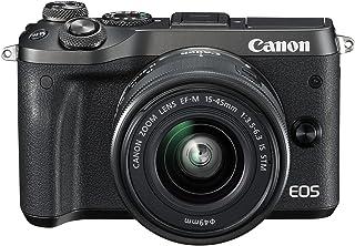 Canon EOS M6 EF-M 15-45mm F3.5-6.3 IS STM lens, 24.2 MP Mirrorless Digital Camera, Black