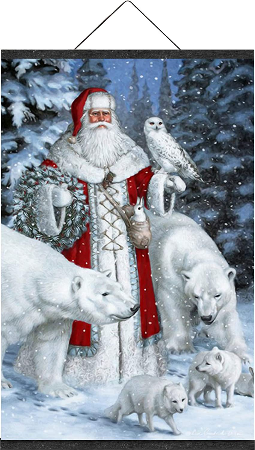 Santa Claus Animal Snow Forest Scene Greeting Season Over item All stores are sold handling W Christmas