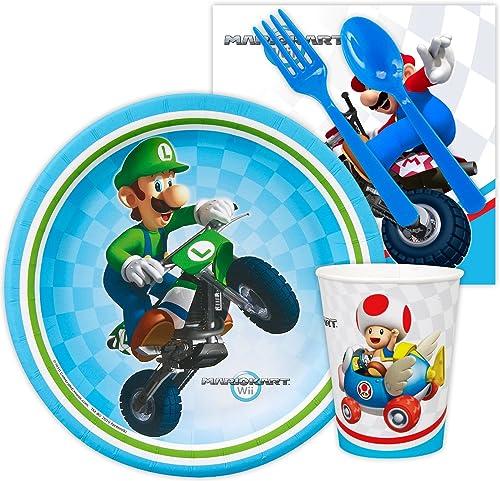 mejor vendido Mario Kart Kart Kart Wii Snack Party Pack Bundle by BirthdayExpress  costo real