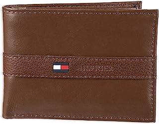 Tommy Hilfiger Men's RFID Blocking 100 Percent Leather Slimfold Wallet Bi-Fold, Tan Zed, One Size