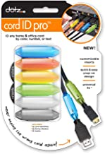 Dotz Cord ID Pro Cord and Cable Identification System, 12 Count, Assorted Colors (DCI171M-C)