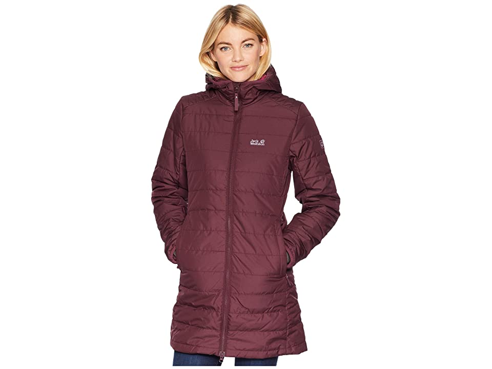 Jack Wolfskin Maryland Insulated Coat (Burgundy) Women