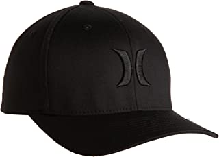 Hurley Men's One And Only Black Flexfit Hat