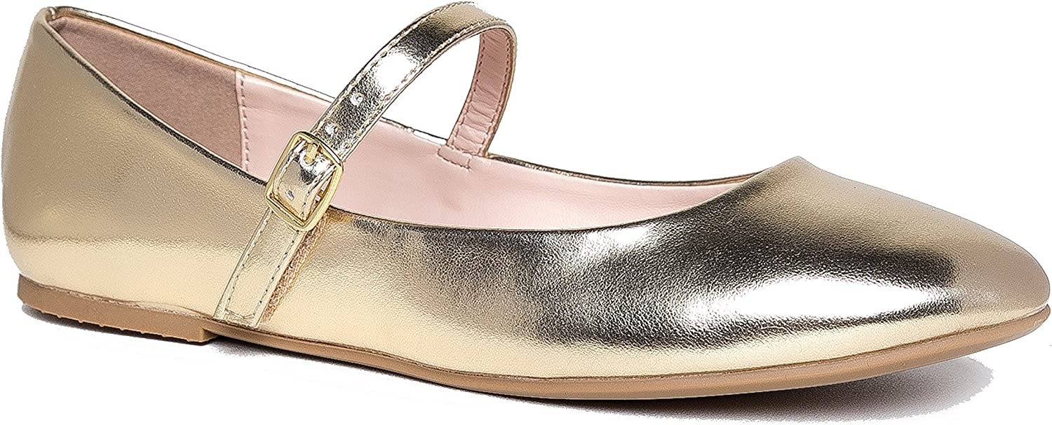J. Adams Lottie Ballet Flat - Adjustable Strap Comfort Casual Mary Jane shoes