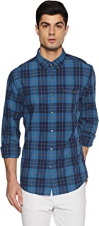 TOMMY HILFIGER Men's Checkered Loose Fit Casual Shirt