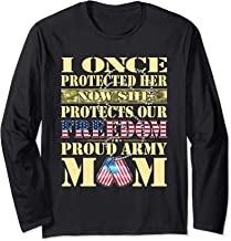 My Daughter Is A Soldier Proud Army Mom Military Mother Gift Long Sleeve T-Shirt